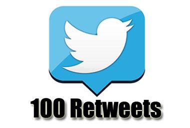 100 twitter retweets