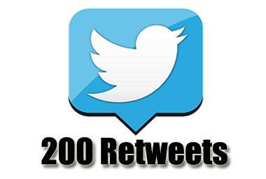 200 retweets