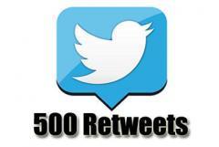 500 retweets