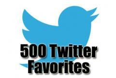 500 twitter favorites